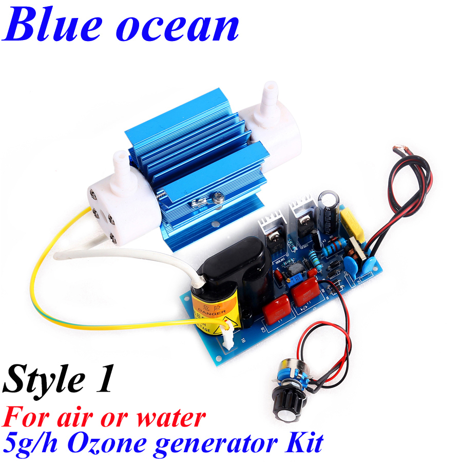 BO-2205QNAOS, AC220V / AC110V 5g / h Kit de generador de ozono con tubo de cuarzo ajustable Al por mayor todo tipo de generador de ozono