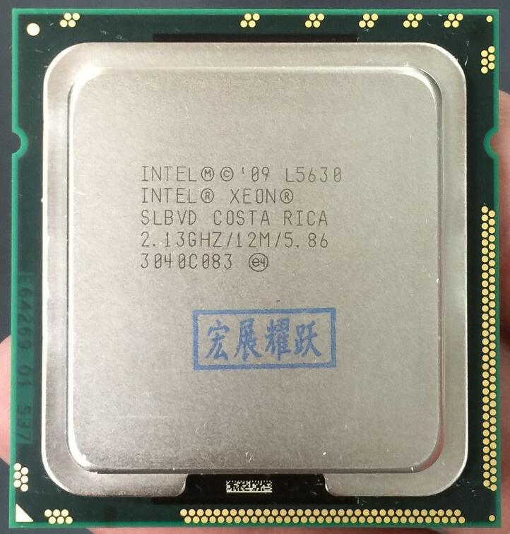 PC computer Intel Xeon Processor L5630 (12M Cache, 2.13 GHz, 5.86 GT/s Intel QPI) LGA1366 Desktop CPU 100% normal work