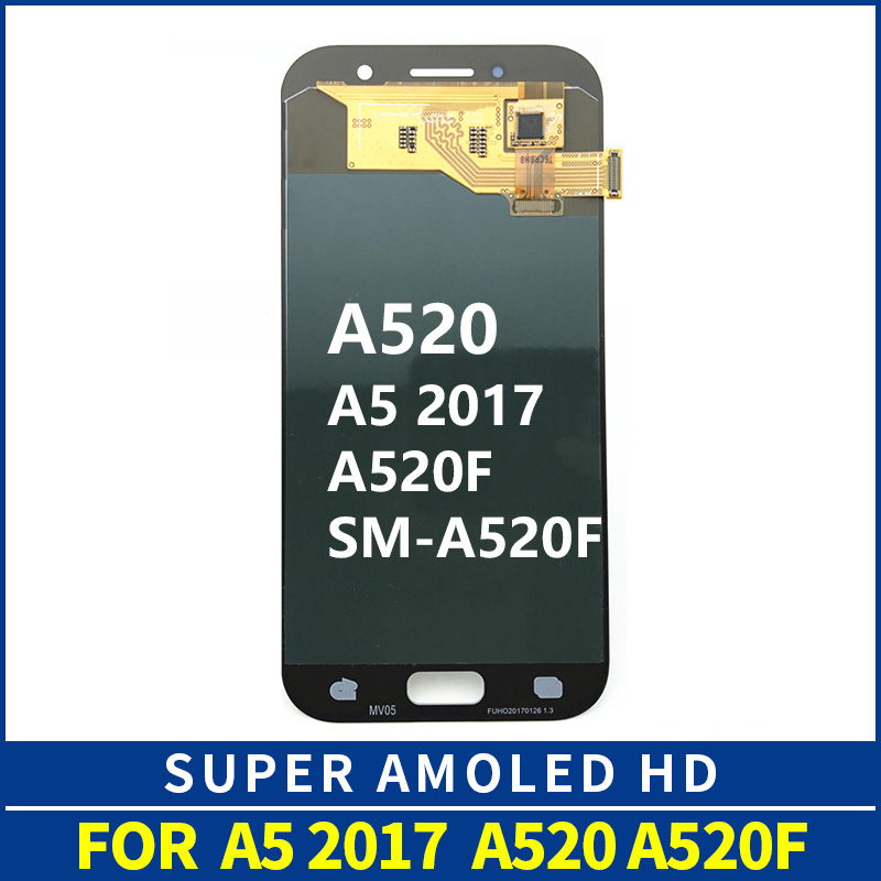 AMOLED Schermo LCD A520 LCD di Ricambio Per Samsung Galaxy A5 2017 A520 A520F A520K Display LCD Touch Screen Digitizer AssemblyAMOLED Schermo LCD A520 LCD di Ricambio Per Samsung Galaxy A5 2017 A520 A520F A520K Display LCD Touch Screen Digitizer Assembly