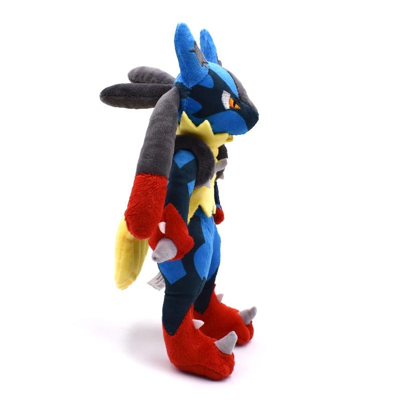 New Arrival 25cm Pokemon Mega Lucario XY Stuffed Plush Toy Soft Doll Kids Xmas