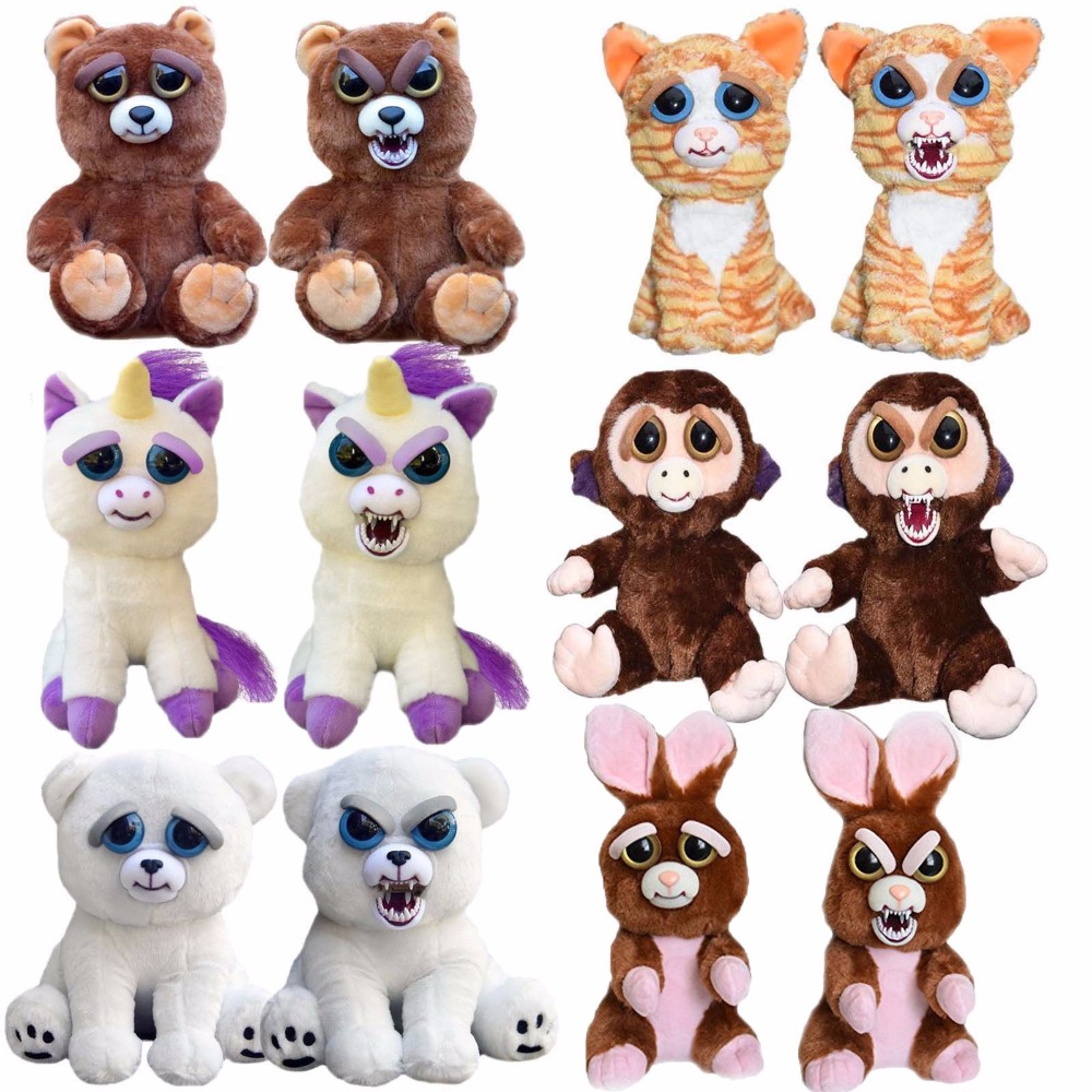 Feisty Pets Funny Change Face Plush Toys Animal Dolls Children Toys   For Girls  Prank Toy Christmas Gift Fast Shipping hot pie cake to face gags practical jokes fun funny gadgets family game prank finger funny stress toys for kids gift