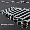 Alta Qualidade 24mm/25mm/27mm Reversível Ratchet Wrench Catraca Soquete Spanner Nut Ferramenta Nova F15-6