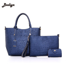 Fashion Large Capacity Shoulder Bag Elegant Alligator Womens Composite Bags 3 Pieces In One Ladies Clutch Wallets