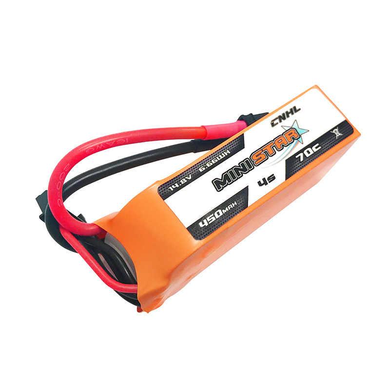 4 шт. CNHL MiniStar 450 mAh 14,8 V 4S 70C Lipo батарея с XT30U вилкой