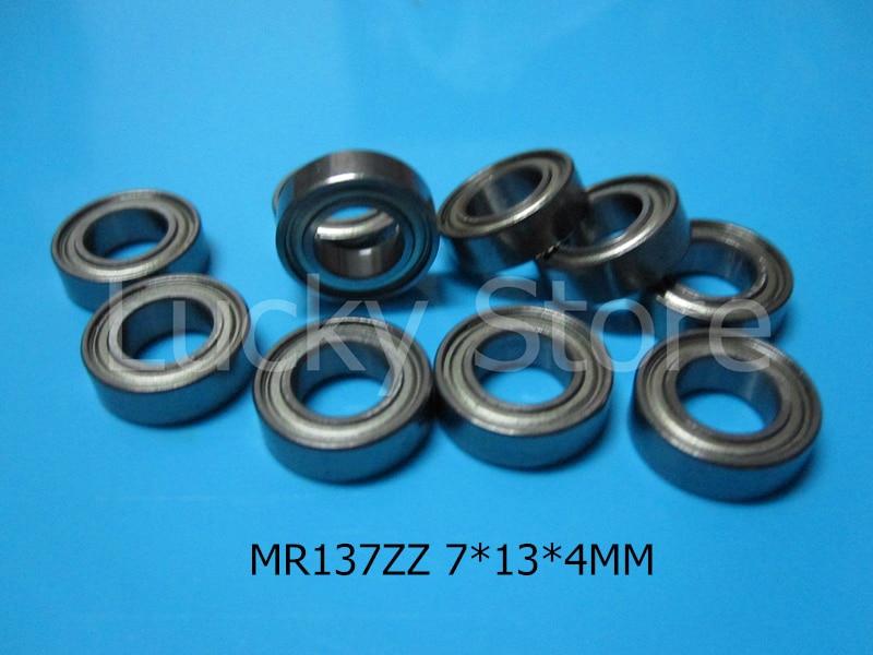 MR137 ZZ ABEC-5 подшипник Металлический Герметичный Миниатюрный Мини BearingFree доставка MR137ZZ 7*13*4 ММ хромированная сталь глубоко groove подшипники
