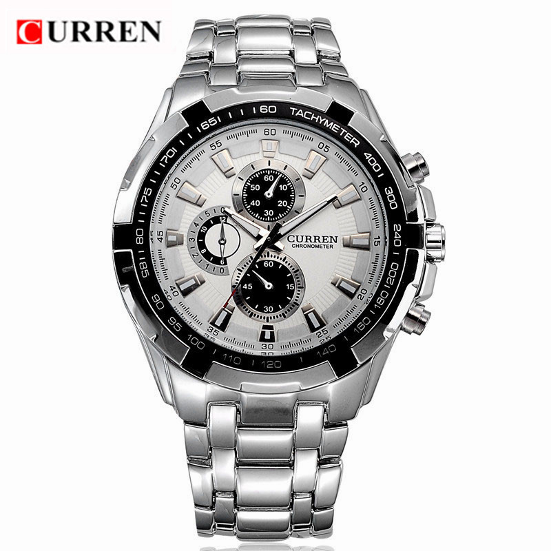 CURREN 8023 Military Mens Quartz Watches Top Brand Luxury Full Steel Men Watch Casual Sport Male Clock Watches Relogio Masculino curren 8110 mens watches top brand luxury full steel quartz men watch waterproof clock male sport wristwatches relogio masculino