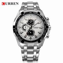 CURREN 8023 Militar Mens Relógios de Quartzo Top Marca de Luxo Completa Aço Relógios do Relógio Dos Homens Relógio do Esporte Casual Masculino Relogio masculino
