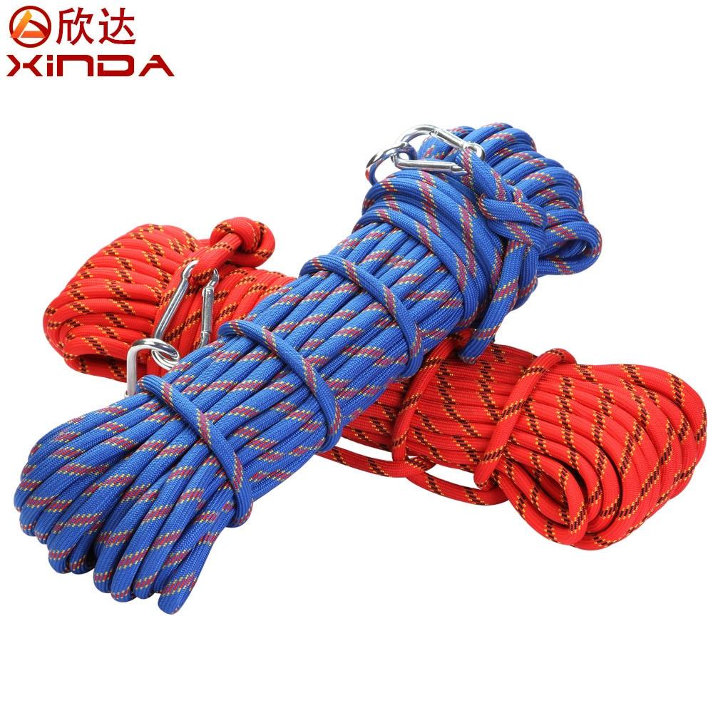 XINDA Hintha açık kurtarma halatı tırmanma halatı 10 metre tırmanma halatı sigorta halatı kaçış yürüyüş survival dişli rulman 300 KG