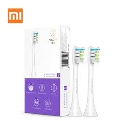 Xiaomi Soocas X3 2 piezas Soocare reemplazo del cepillo de dientes eléctrico cabeza para SOOCAS Xiaomi mi SOOCARE X3 cabeza de cepillo de rosa