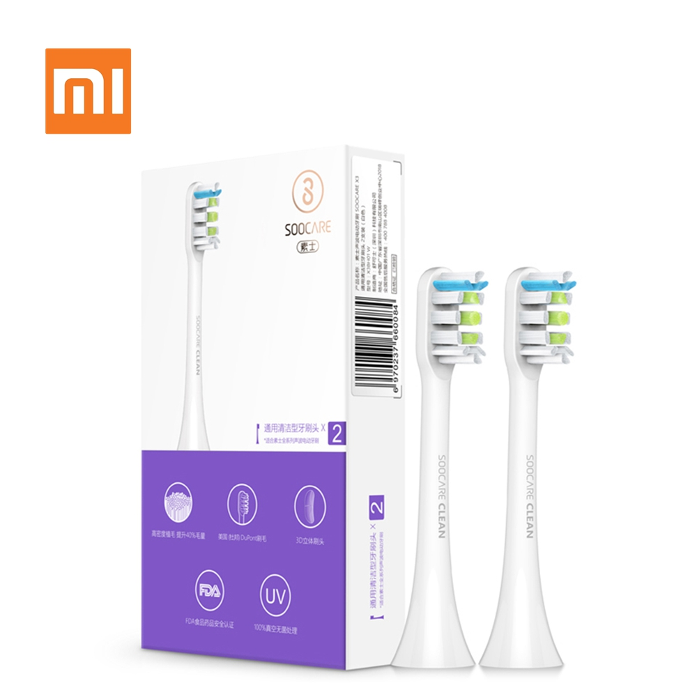Xiaomi Soocas X3 2Pcs Soocare Replacement Electric Toothbrush Head for SOOCAS Xiaomi Mi SOOCARE X3 Brush Head Replacement Pink image