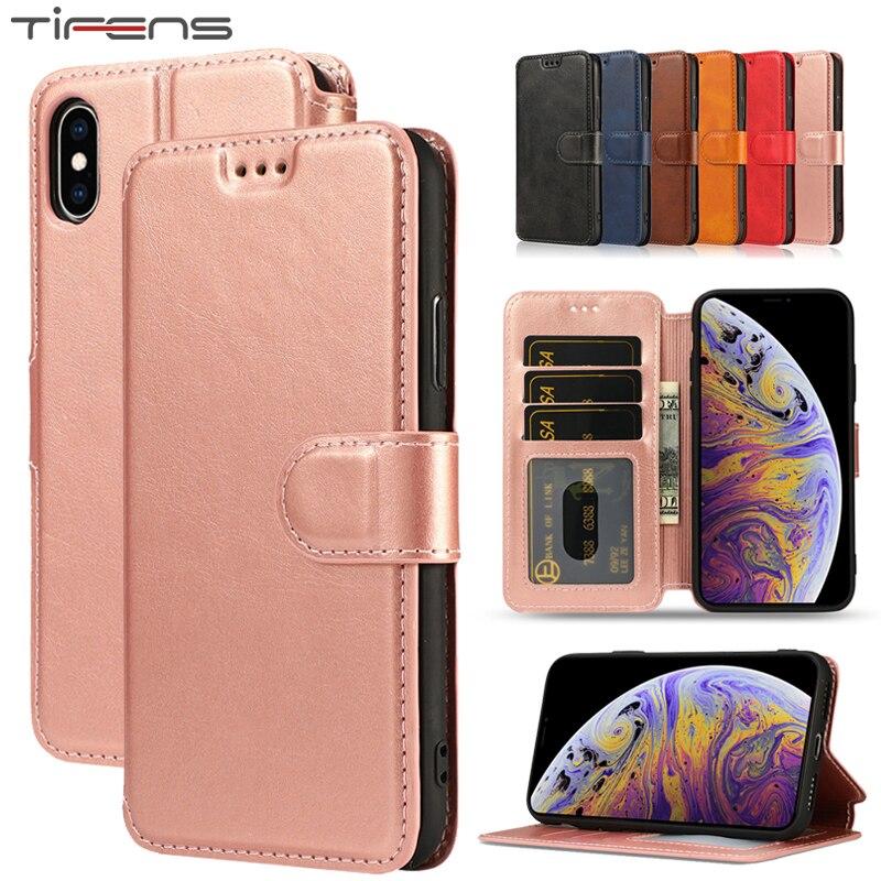Carteira de Couro de luxo Virar Capa Para iPhone 11 Pro Max Caso Para iPhone XS Max XR X 5 5S se 6 6s Plus Suporte Magnético Telefone Coque