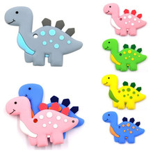 Silicone Baby Teether Animal Dinosaur Shape Baby Teethers Toddler Toy Teething Chew Accessories High Quality(China)