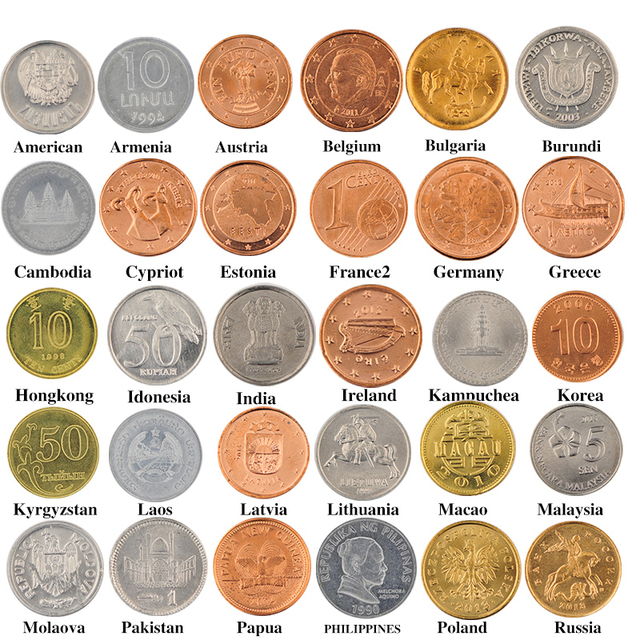 30 Coins Collection Set From 30 Country Coins New 100