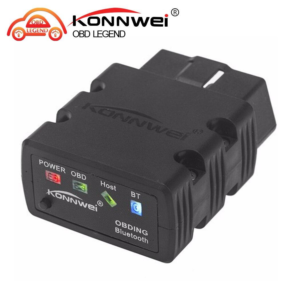 Prix pour Konnwei KW902 mini ELM327 Bluetooth OBD-II De Voiture des Outils De Diagnostic Scanner Elm 327 OBD2 code scanner lecteur de Soutien J1805 Protocole