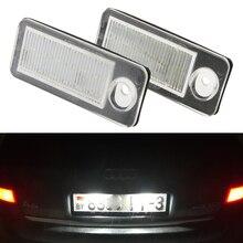 Светодиодный светильник для номерного знака Audi Canbus, лампа для номерного знака, Ксенон белого цвета для A6 C5 4B Avant/Wagon 1998-2005 RS6 Plus 2003-2005, 2 шт