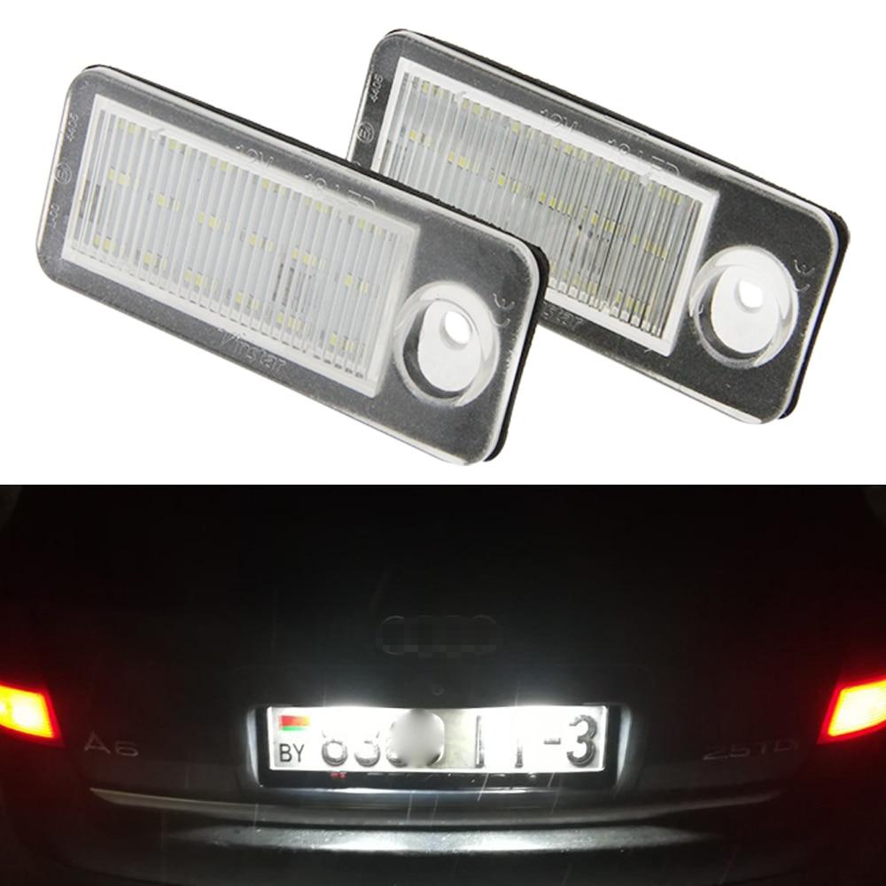 Для Audi Canbus светодиодный номерной знак светильник лампа номерного знака ксенон белый для A6 C5 4B Avant/Wagon 1998-2005 RS6 Plus 2003-2005 2 шт.