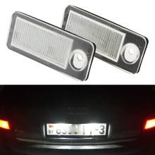 Lâmpada de led para matrícula, para audi canbus, luz branca de xenon para a6 c5 4b antiga/carro 1998-2005 rs6 plus 2003-2005 2 peças