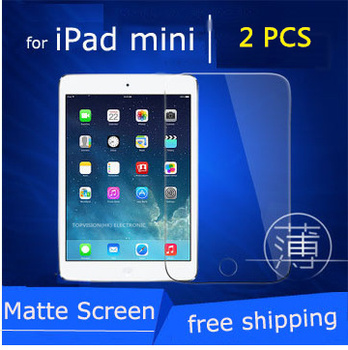 2PC/Pack frosted matte front lcd screen protector for ipad mini 1 2 3 protective film anti glare carton package & check online