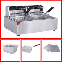 Commercial Potato Chips Deep Fat Fryer Chicken Deep Fryer Kitchen Equipment Electric Frying Pan Chicken Grill Frying Machine