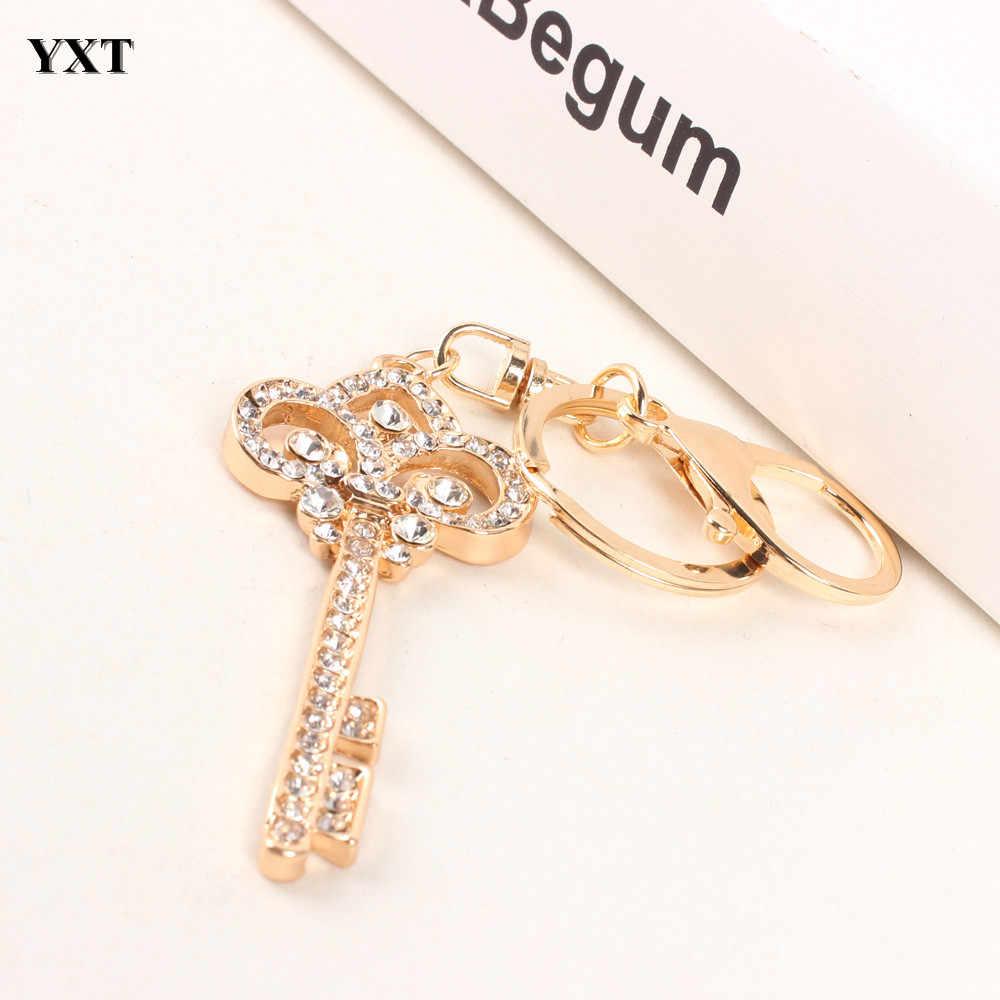 Старинный ключ стиль прекрасный Шарм кулон новый кристалл кошелек сумка брелок в подарок брелок для женщин в ювелирных изделиях высокого качества