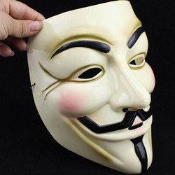 New fashion yellow v for vendetta mask fawkes anonymous halloween fancy dress costume party tool cosplay.jpg 250x250