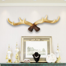 Nordic Deer Antlers Large Resin Statue Creative Animal Figurine Key Holder Wall Coat Rack Decorative Home Ornaments
