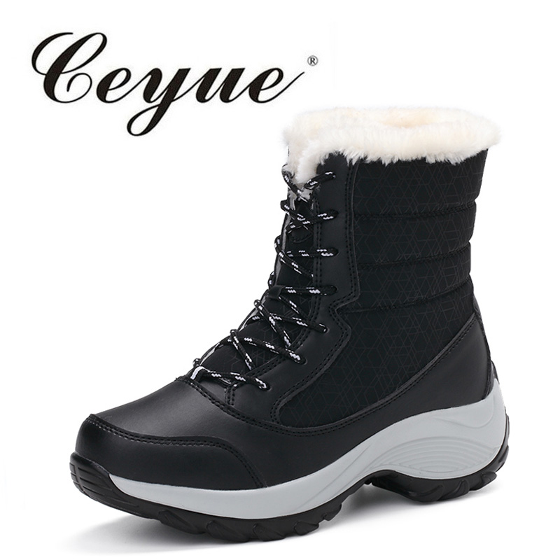 Ceyue New Arrival 2017 Fashion Women Snow Boots Casual Keep Warm Winter Boots Comfort Female Walking Waterproof Boot For Women sanwa button and joystick use in video game console with multi games 520 in 1