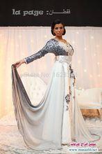 2016 New Arrival Famous Design Kaftan Dubai Fancy Abaya Islamic v-neck full Sleeve sequined Prom Dress Evening Dresses