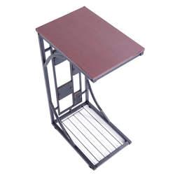 Железный боковой стол металлический конец стол коричневый дропшиппинг