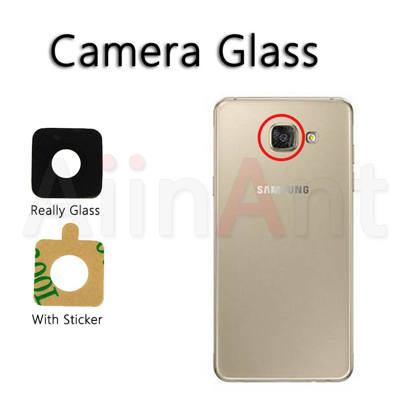 AiinAnt Original For Samsung Galaxy A3 A5 A7 2015 2016 2017 A310 A510 A710 Back Camera Lens Ring Glass With Sticker Repair Parts