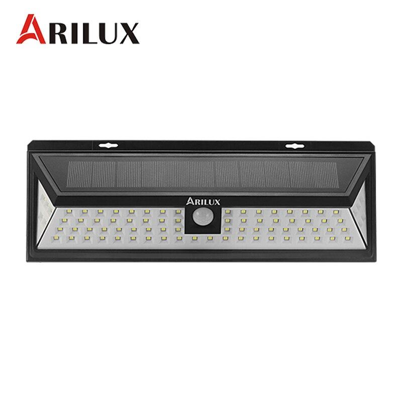ARILUX AL-SL12 80 LED Solaire Lampe PIR Motion Sensor Solaire Extérieure Propulsé LED Jardin Lumière Étanche Murale D'urgence Lampe