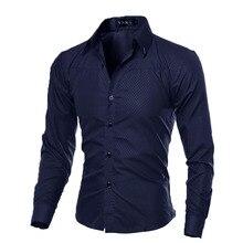 THINKTHENDO Fashion Men s Luxury Casual Shirts Slim Fit font b Dress b font Shirts font