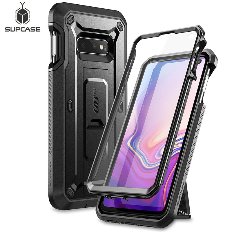 For Samsung Galaxy S10e Case 5.8 inch UB Pro Full-Body Rugged Holster Protective Case with Built-in Screen Protector & Kickstand(China)