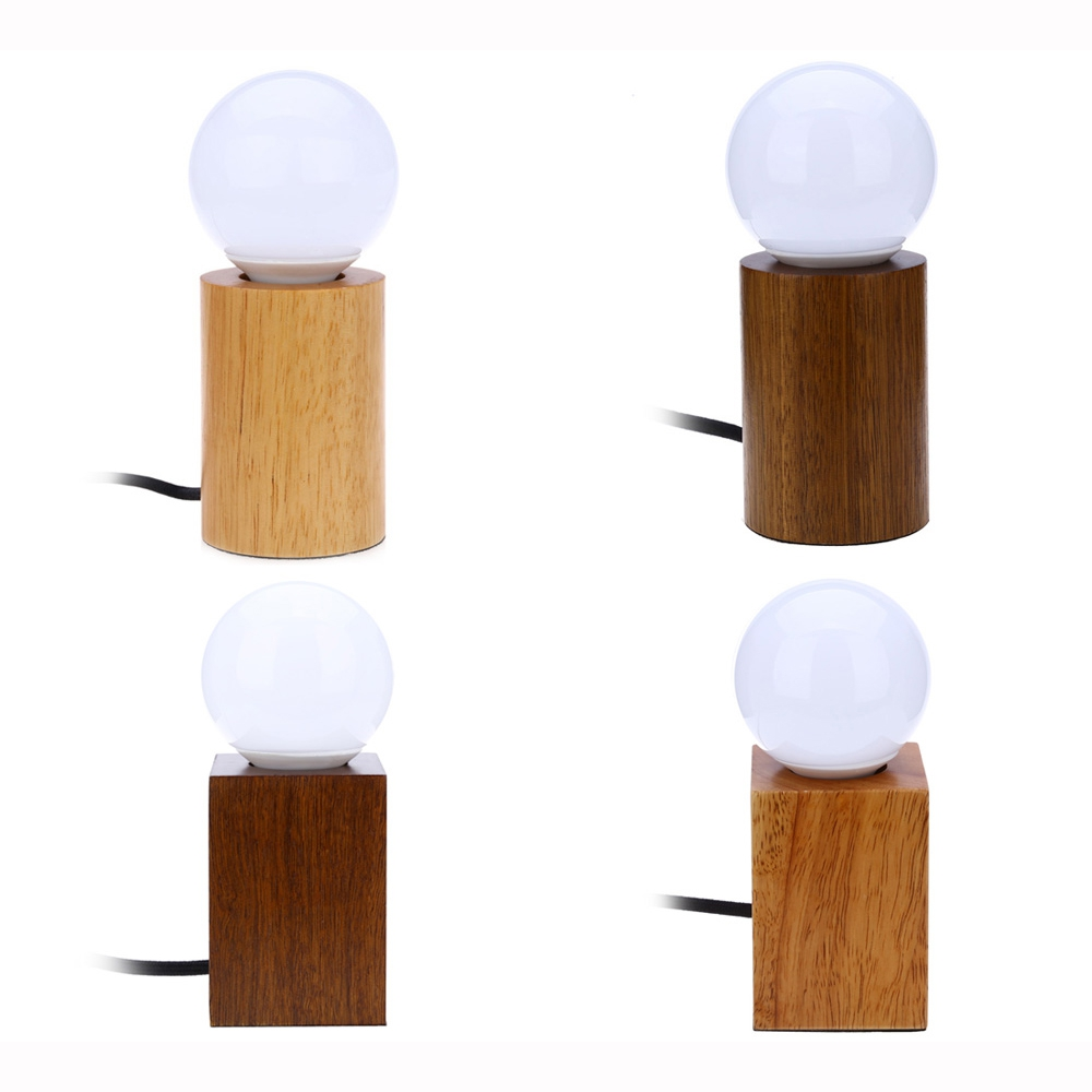 online buy wholesale wood desk from china wood desk wholesalers  - new e led solid oak lamp ac v table lamps light squareround