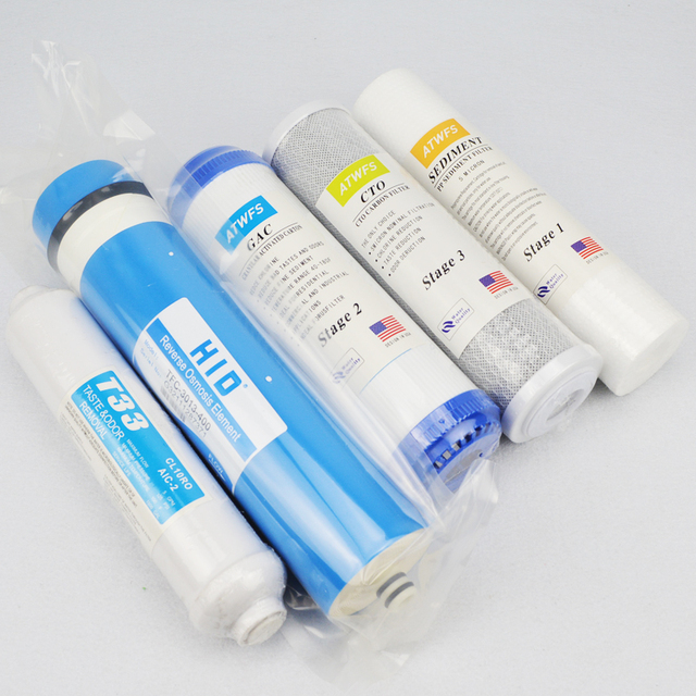 New Arrival 5 Stage Filter Cartridge 400 GPD RO Membrane Water Filter Survival Purifier Osmose Waterfilter RO System 1