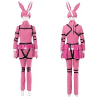 Sword Art Online Cospaly Alternative Gun Gale Online Costume Pink LLENN Outfit Halloween Cosplay Costumes