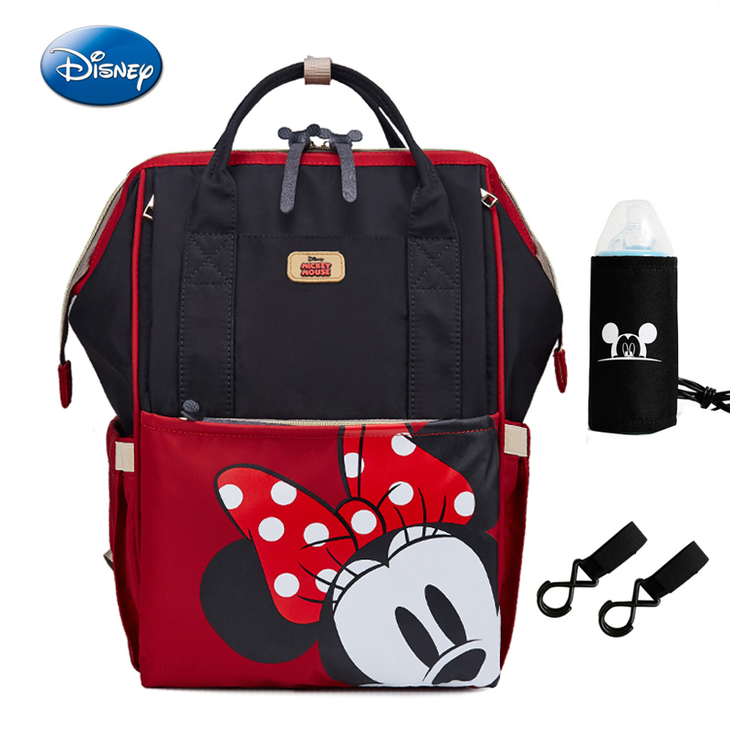 Disney Minnie Mickey Diaper Backpack Mummy Maternity Nappy Bag Large Capacity Baby Travel Backpack Bottle Feeding