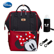 Disney Minnie Mickey Diaper Backpack Mummy Maternity Nappy Bag Large Capacity Baby Travel Bottle Feeding Insulation