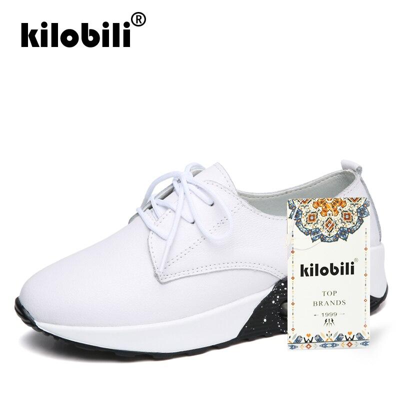 Zapatos Moda Zapato Encaje De Black Señoras 2019 Genuino Las Primavera  Plataforma Kilobili white Planos Calzado Zapatillas Casual Mujeres ... c1dcec293ec