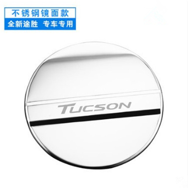 Car styling Stickers For Hyundai Tucson 2015 2016 2017 2018 stainless steel fuel tank cover oil gas cap trim