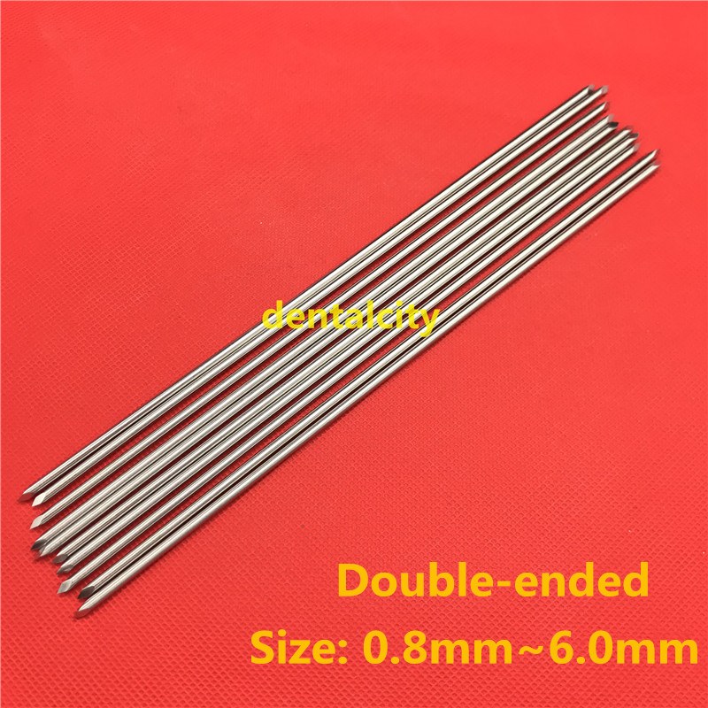 10pcs Nice Stainless Steel Double-ended Kirschner Wires Veterinary Orthopedics Instruments