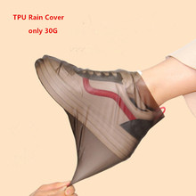 2pair TPU waterproof rain shoes covers Overshoes boots Slip