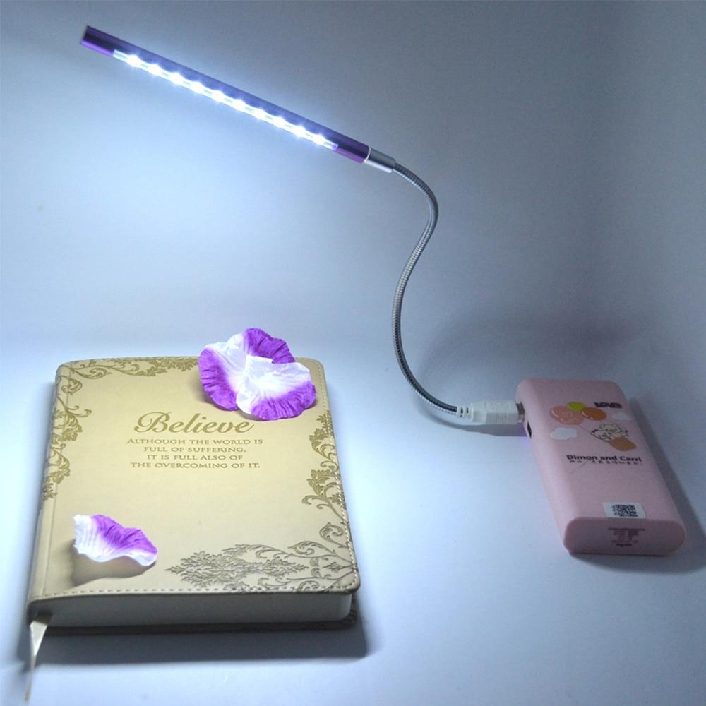 Flexible Ultra Brillante Mini 10LED USB Metal Shell Escritorio Libro - Luces nocturnas - foto 4