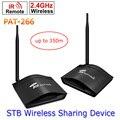 PAT-266 Inteligente 2.4 GHz Sem Fio 350 m AV Sender TV Audio Video Sender Transmissor e Receptor Remoto IR Sinal Estender EUA/EU/AU/UK