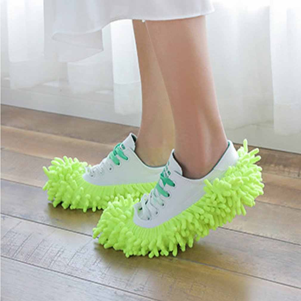 Multi-Function Dust Duster Mop Slippers Shoes Cover Washable Reusable Microfiber Foot Socks Floor Cleaning Tools Shoe Cover