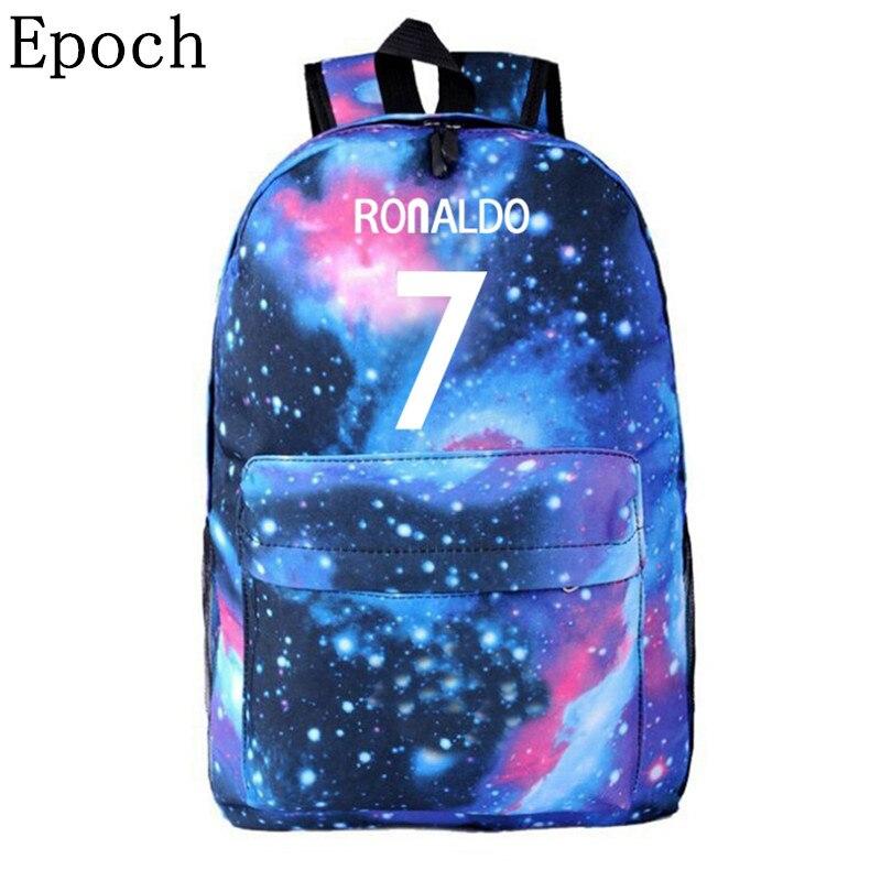 VEEVANV Fashion 7# Bag Ronaldo Backpacks Travel Backpack For Teenagers Boy Girls School Bags Kids Gift Mochila Men Women Bags