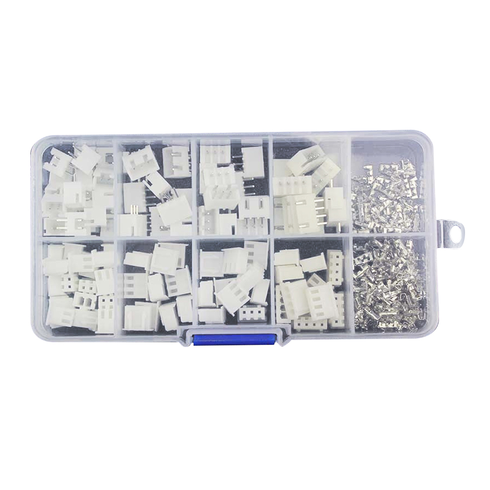 50pcs XH2P Kits 2.54mm 2pin 3pin 4pin Connectors Step Terminal Wire Connectors Adapter in Box Insulated Crimp Terminals 1250cs lot mixed 5 models bared bootlace ferrule kit 2 5 16 mm non insulated electrical crimp cord wire end terminal