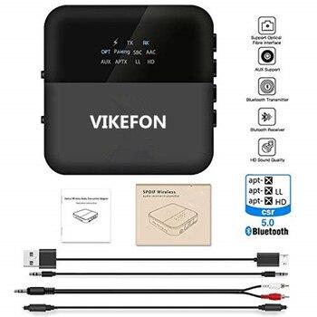אוטומטי על, 2019 משודרג V5.0 אלחוטי Bluetooth מקלט aptX HD מוסיקה מקלט משדר אודיו 2 ב 1 מתאם Aux מקלט