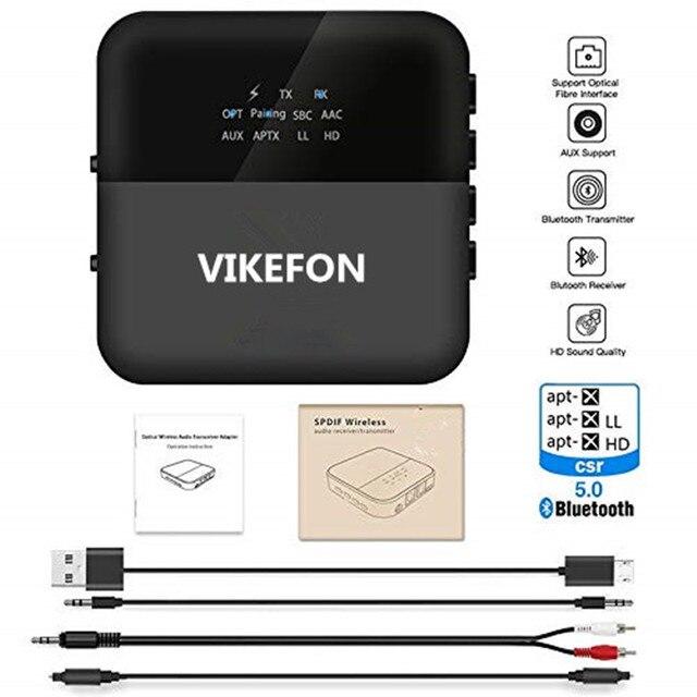 Otomatik, 5.0 Bluetooth ses alıcısı verici aptX HD/LL Hifi Stereo müzik 2 in 1 reseptörü Transmisor adaptörü gönderen TV