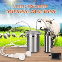 2L 0.5Gal 2 Teats Stainless Steel Sheep Milker Farm Electric Milking Machine Double Head Lock Gland Goat Milking Machine